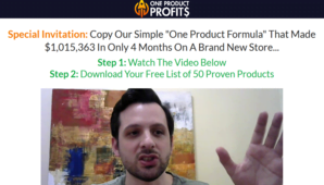 Nick Peroni – One Product Profits (Update 1)