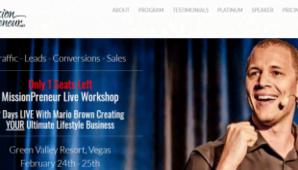 Mario Brown – MissionPreneur Live Workshop