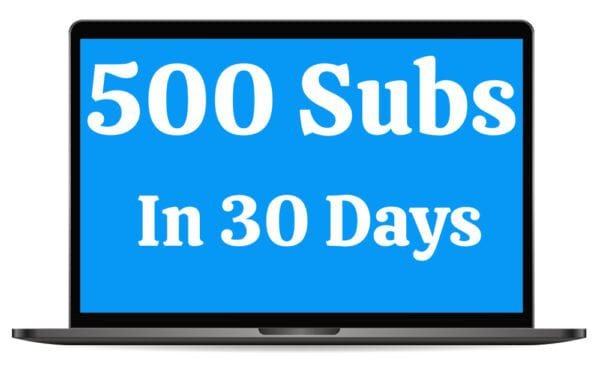 500 Subscribers In 30 Days