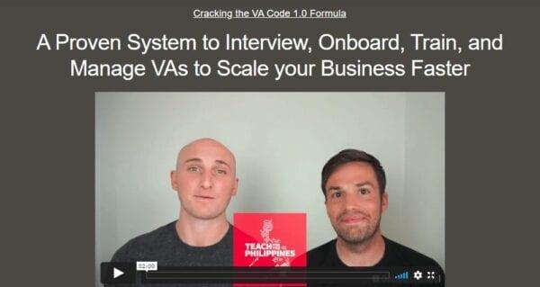 Nathan Hirsch and Connor Gillivan – Cracking The VA Code