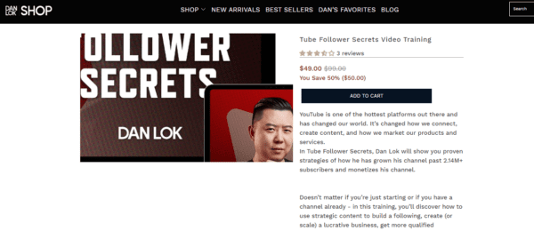 Dan Lok – YouTube Follower Secrets