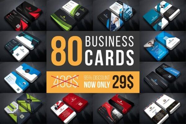 80 Business Cards Mega Bundle