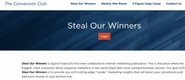 Agora Financial – Steal Our Winners Download