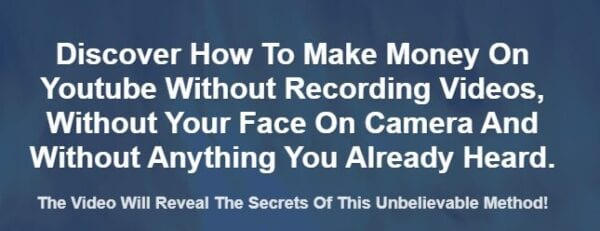 Alessandro Zamboni – Make Money On Youtube Without Recording Videos, Without Your Face On Camera Download