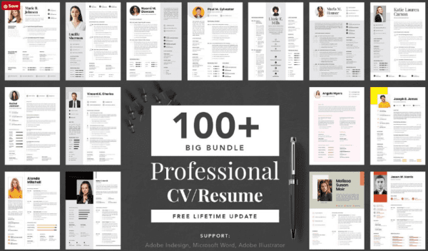 Big Bundle Professional CV Resume