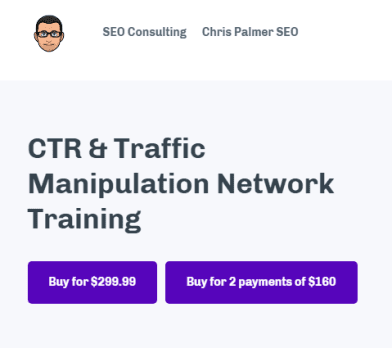 Chris Palmer – CTR and Traffic Manipulation Network Training Download