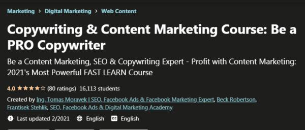 Copywriting & Content Marketing Course – Be a PRO Copywriter Download