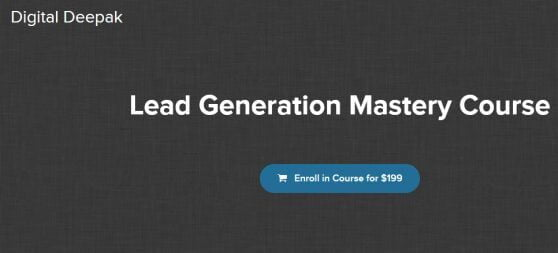 Deepak Kanakaraju – Lead Generation Mastery Download