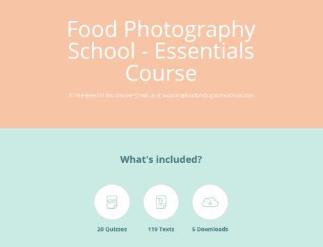 Food Photography School – Essentials Course + Bonus Phone Course Download
