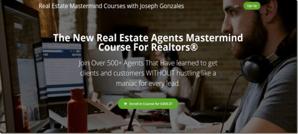 Joseph Gonzales – The New Real Estate Agents Mastermind Course For Realtors