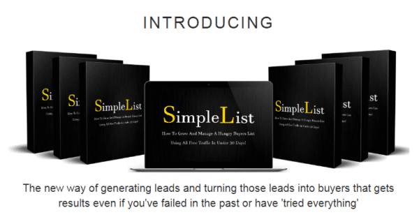 Simple List – Without Having To Create Or Sell Anything