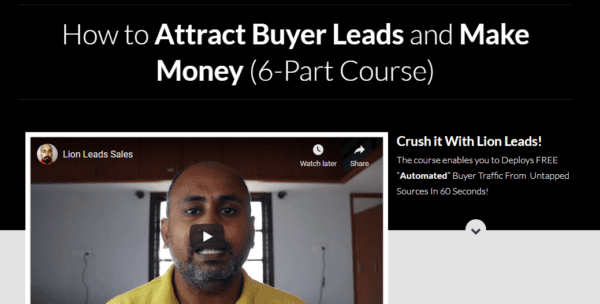LION LEADS SALES – How to Attract Buyer Leads and Make Money- Launching 22 May 2021