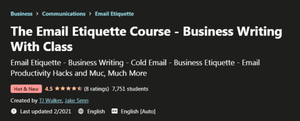 The Email Etiquette Course – Business Writing With Class Download